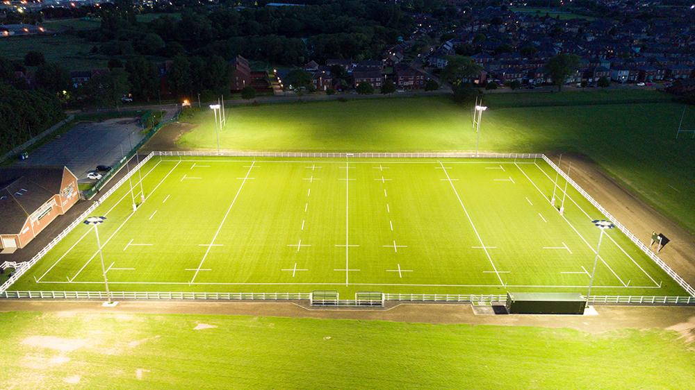 billingham rufc halliday lighting rugby floodlights