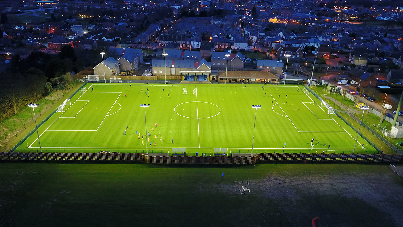 support hub halliday lighting football pitch floodlights