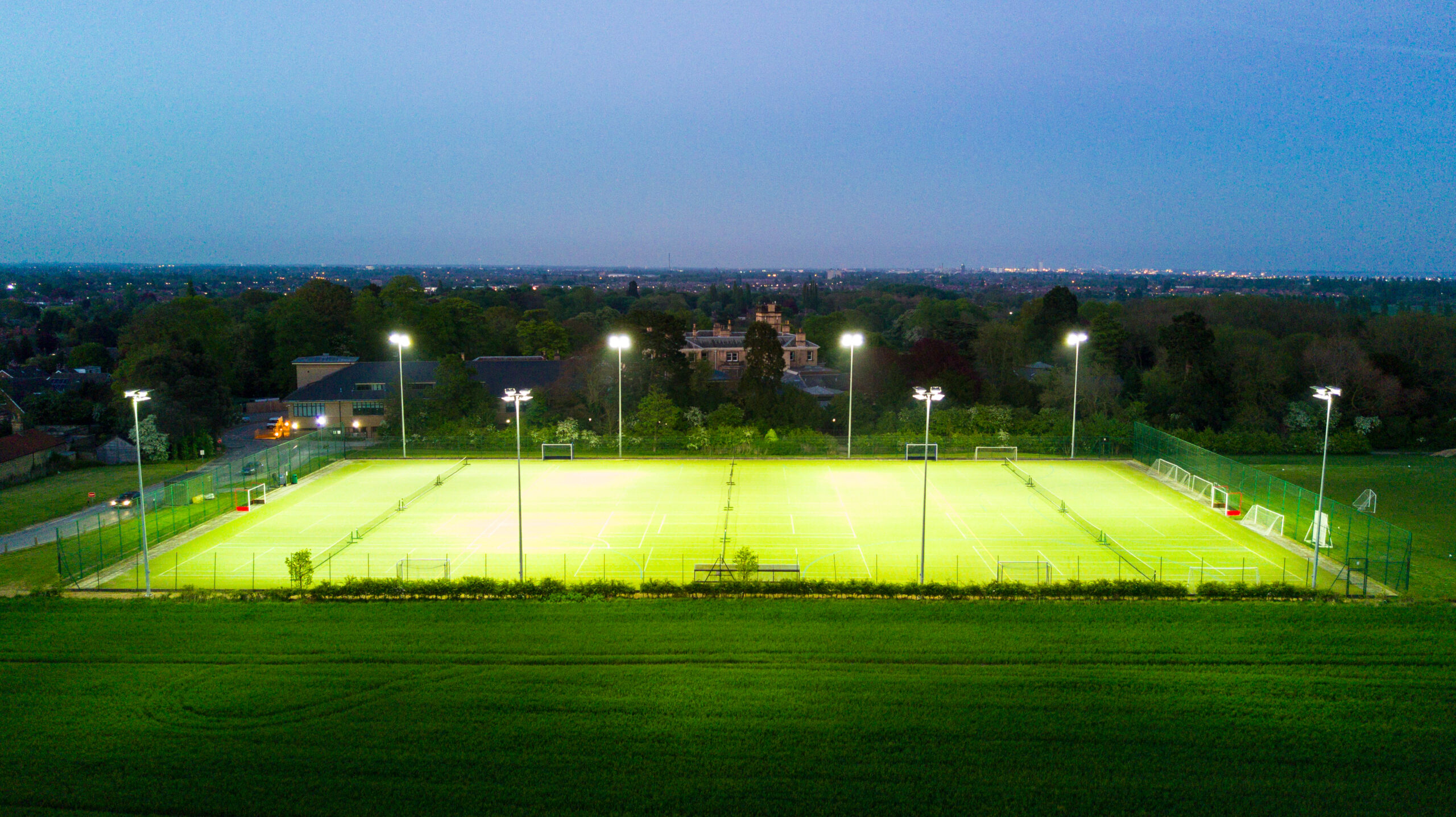 hull collegiate hockey pitch lighting from halliday lighting