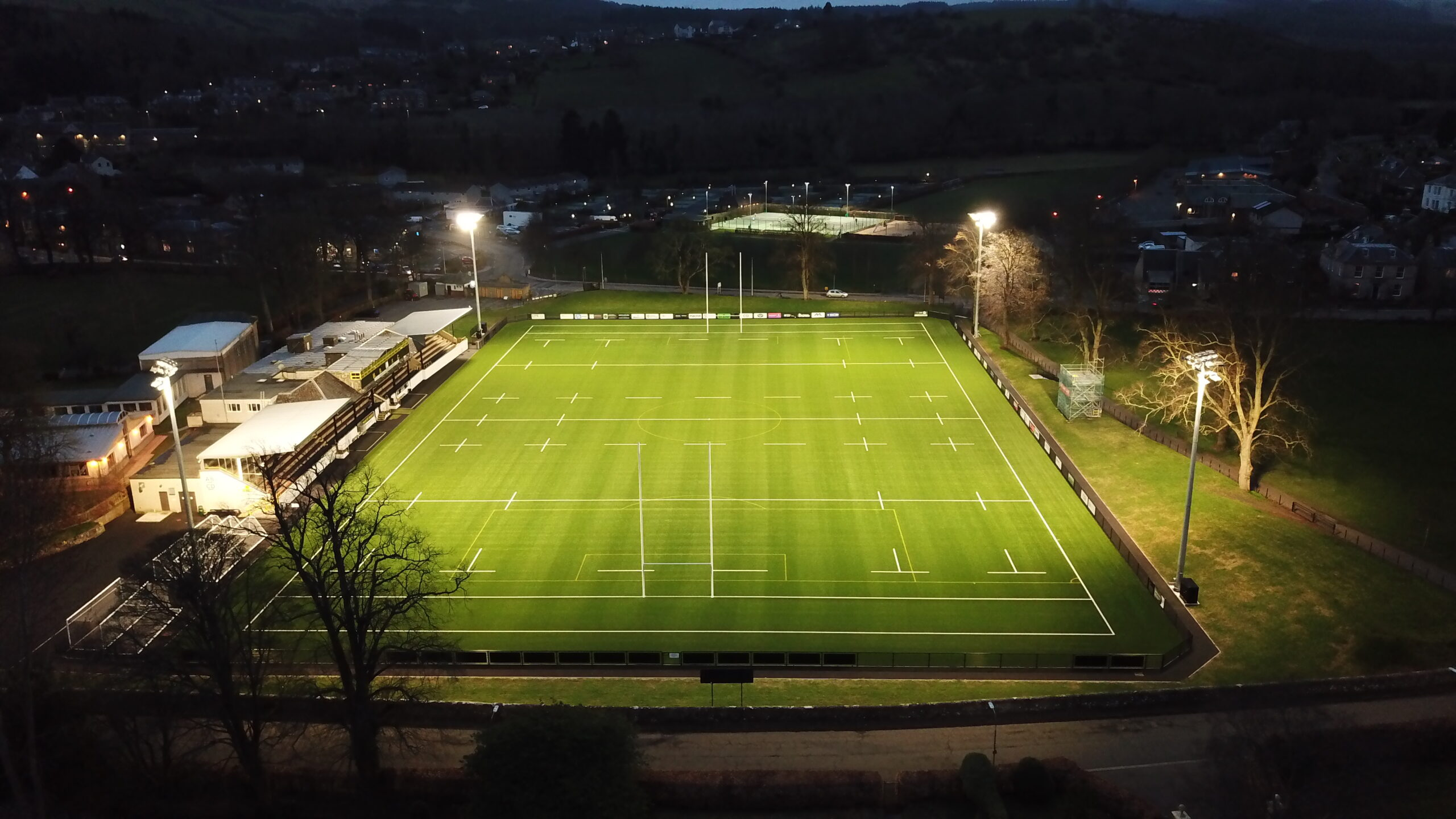 melrose rugby 3g floodlit