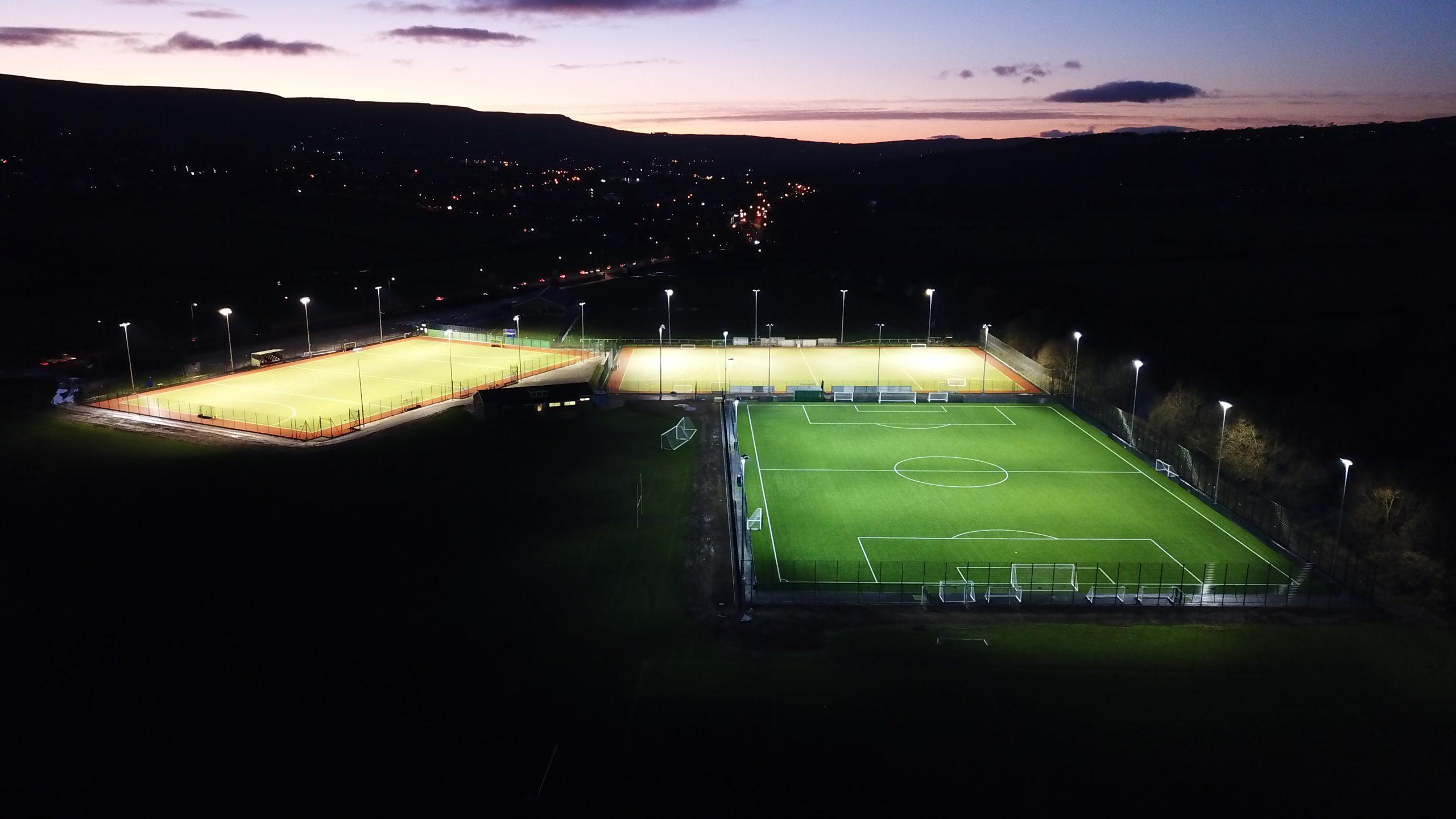 ben rhydding hockey club halliday lighting football pitch floodlights