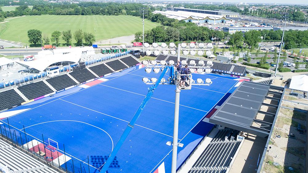 lee valley hockey pitch olympic park london halliday lighting maintenance